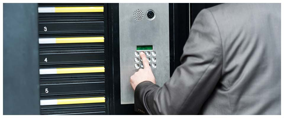 keypad panel to office building